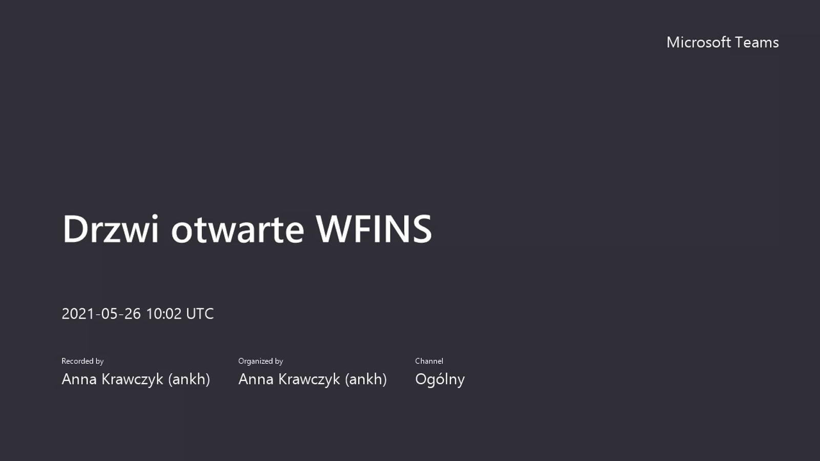 Drzwi otwarte WFiNS UMK, 26.05.2021 r. - IF UMK